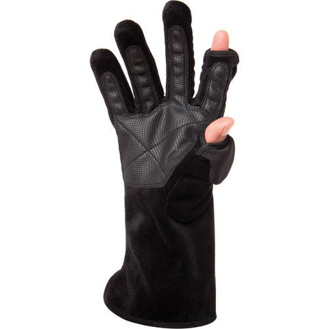 Freehands Women's Microfur Gloves Medium, Black