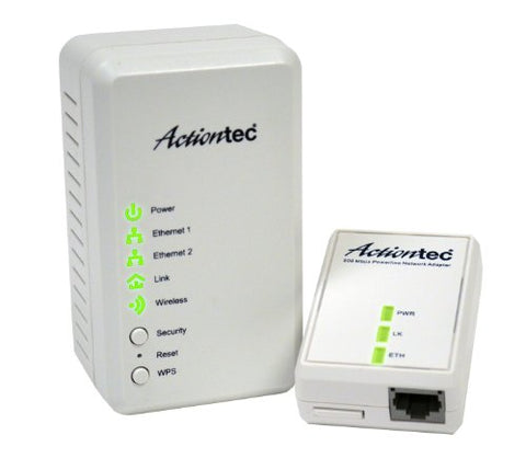 Actiontec Wireless Network Extender Plus Powerline Network Adapter 500 Kit