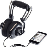 Blue Mix-Fi Powered High-Fidelity Headphones with Built-In Amplifier & HPDS-B Headphone Stand Kit