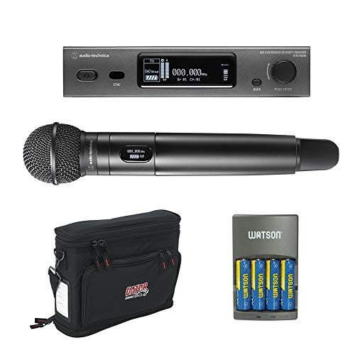 Audio-Technica ATW-3212/C510EE1 3000 Series 4rth Gen Wireless Handheld Microphone System with ATW-C510 Capsule, GM-1W Wireless Mobile Pack & 4-Hour Rapid Charger Bundle