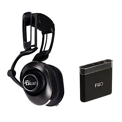 Blue Lola Over-Ear Isolation Headphones with Built-In Amplifier and FiiO A1 Portable Headphone Amp