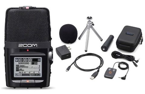 Zoom H2n Digital Handy Recorder with APH-2n Accessory Pack