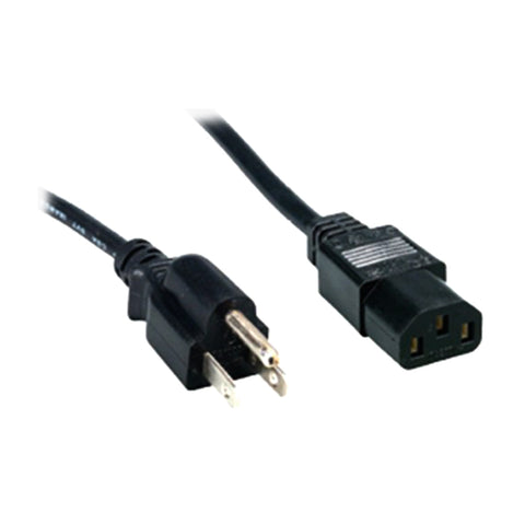 Comprehensive Cable PWC-BK-3 Molded Power Cable, Black