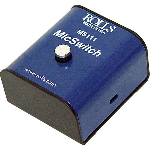 Rolls MS111 Mic Switch - Latching or Momentary Microphone Mute Switch