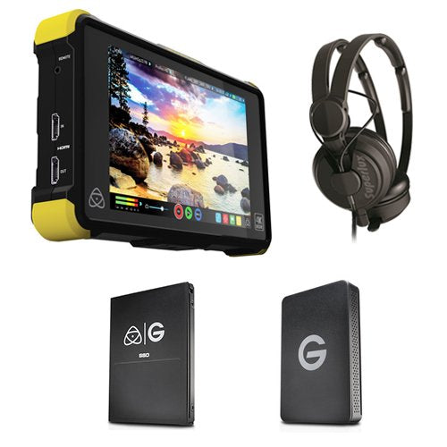 Atomos Shogun Flame with 256GB G-Technology SSD Kit with Superlux HD-562 Professional Headphone