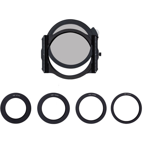 H&Y Filters 100mm K-Series Filter Holder Kit with 67 mm 72mm 77mm 82mm Adapters
