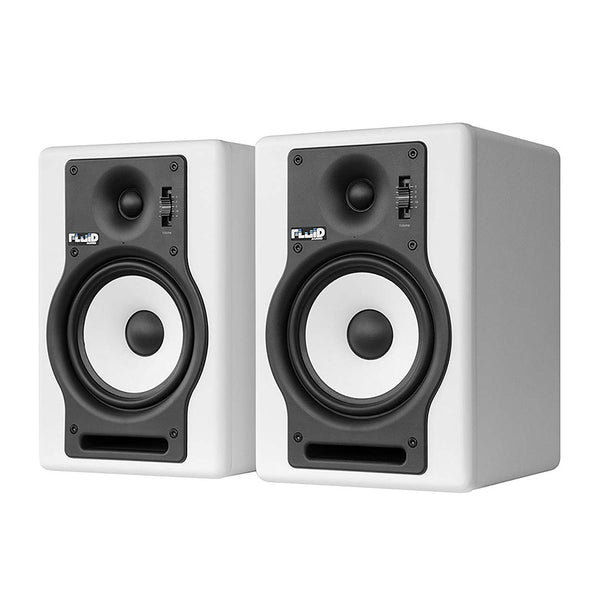 "Fluid Audio F5 (Pair) - 5"" 2-way Studio Reference Monitors, White"