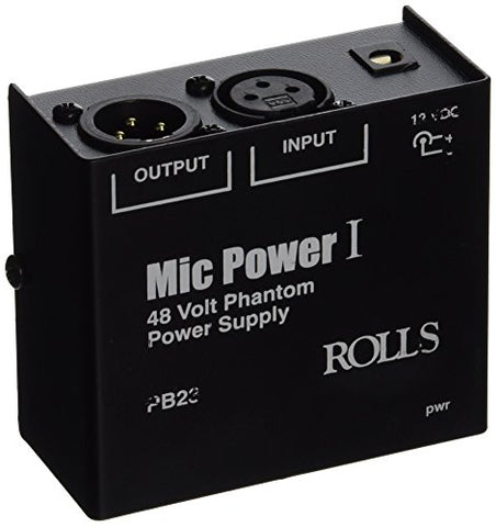 Rolls PB23 - Single Channel Phantom Power Supply with 12V and 48V Switch