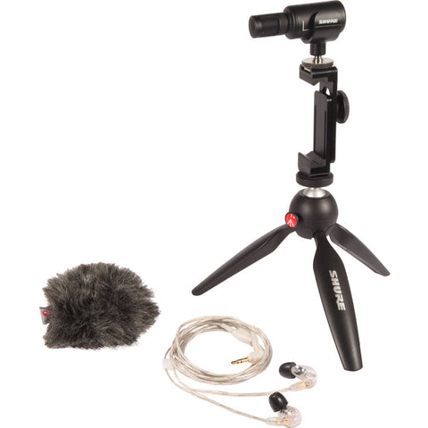 Shure MV88+ SE215-CL Portable Videography Bundle