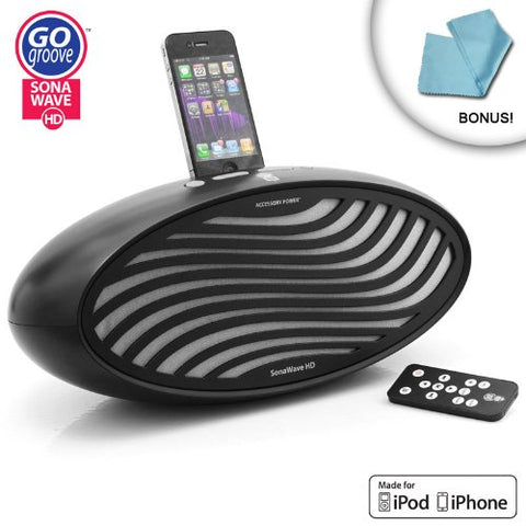 """GOgroove SonaWave HD 2.1 Stereo Sound System with Wireless Remote for Apple iPhone and iPod"
