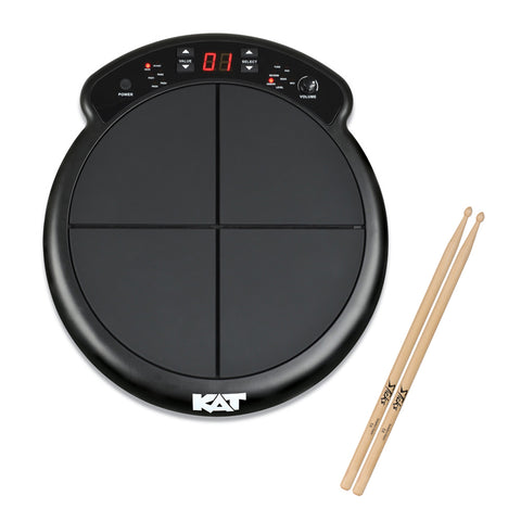KAT Percussion KTMP1 Electronic Drum & Percussion Pad Sound Module with On-Stage 5A Maplewood Drumsticks (12-Pairs) Bundle
