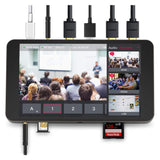 YoloLiv YoloBox Portable Multi-Camera Live Streaming Device with 64GB PRO Memory Card & 6' HDMI Cable Bundle