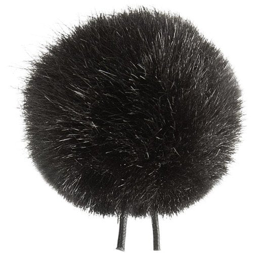 Bubblebee Industries Windbubble Miniature Imitation-Fur Windscreen (Lav Size 1, 28mm, Black)