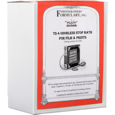 Photographers' Formulary TS-4 Stop Bath for Black & White Film & Paper - 10 Liter