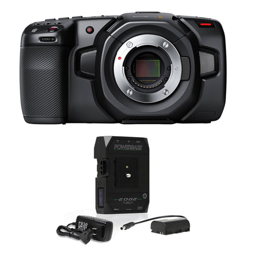 Blackmagic Design Pocket Cinema Camera 4K with Core SWX Powerbase Edge Battery Bundle