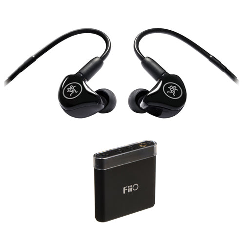 Mackie MP-120 Single Dynamic Driver In-Ear Headphones with FiiO A1 Portable Headphone Amp