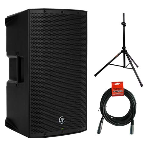 "Mackie Thump12A - 1300W 12"" Powered Loudspeaker (Single) with Steel Speaker Stand and XLR- XLR Cable"
