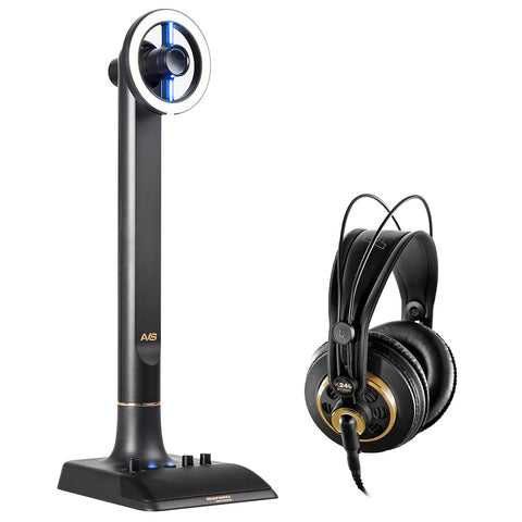Marantz Professional AVS Audio-Video Streamer Broadcasting System Bundle with AKG K240 Pro Headphones
