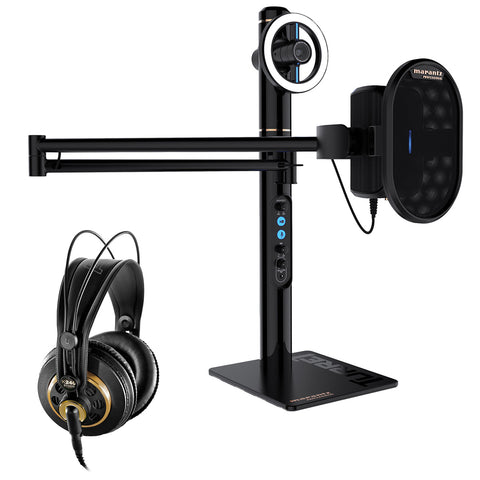 Marantz Professional Turret Broadcaster Video-Streaming System Bundle with AKG K240 Studio Pro Headphone