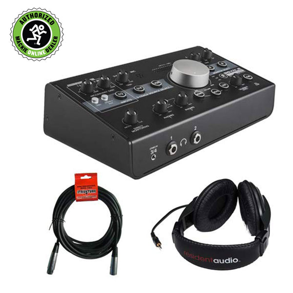 Mackie Big Knob Studio Monitor Controller and Interface with Stereo Headphones & XLR Cable