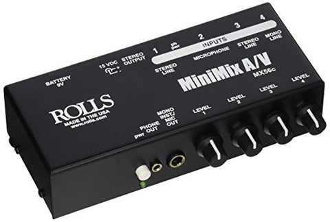 Rolls MX56C Mini Mix Audio Video Mixer