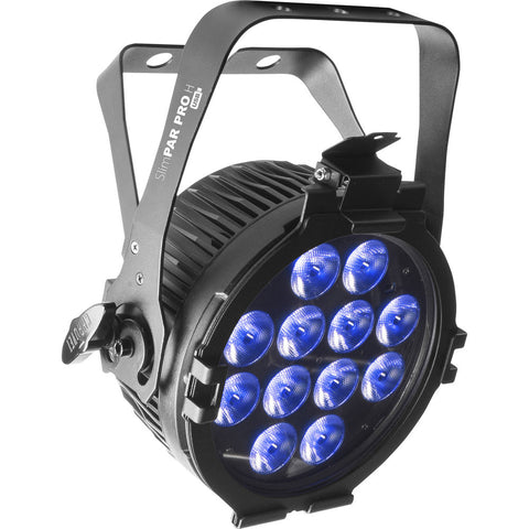 CHAUVET DJ SlimPAR Pro H USB Low-Profile RGBAW+UV LED PAR (Black)