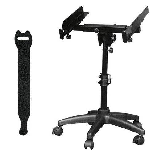 "On-Stage Autolocator/Mixer Stand MIX-400 with 0.5 x 6"" Touch Fastener Straps (Black, 10-Pack)"
