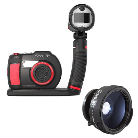 SeaLife DC2000 Camera Pro Flash Set with SeaLife SL970 0.65x Wide Angle Lens