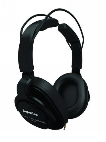 Superlux  Closed-Back Professional Headphone w/ Detachable Straight Cables BLACK