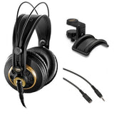 AKG K 240 Studio Professional Semi-Open Stereo Headphones with Auray Headphone Holder and 20' XLR Calble