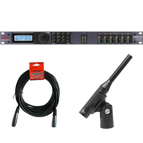 dbx DriveRack 260 Equalization and Loudspeaker Control System with dbx RTA-M DriveRack Measurement Microphone and XLR Cable