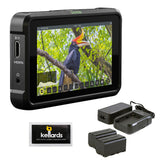 "Atomos Shinobi 5"" 4K HDMI HDR Photo & Video Monitor with Atomos Power Kit & Screen Cleaning Wipes (5-Pack) Bundle"