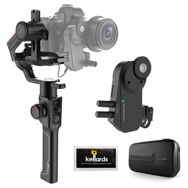 Moza Air 2 3-Axis Handheld Gimbal Stabilizer with Moza iFocus Wireless Motor & Cleaning Wipes (5-Pack)