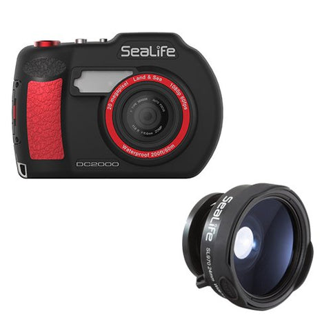 SeaLife DC2000 Digital Underwater Camera with SeaLife SL970 0.65x Wide Angle Lens