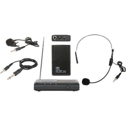 Galaxy Audio Triple Play VHF Wireless Belt Pack System Freq Code V59