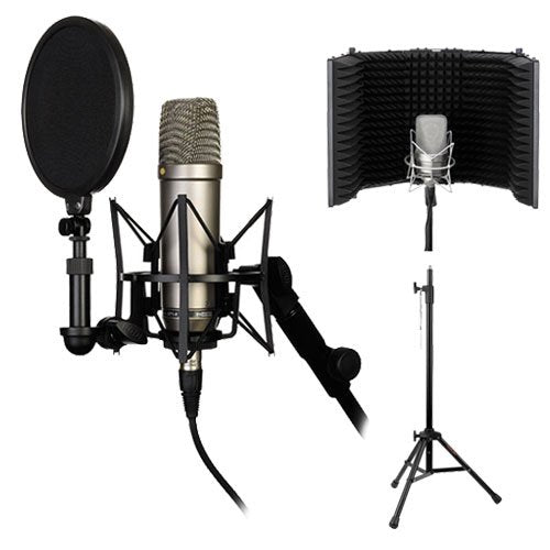 Rode NT1-A Complete Recording Solution, Reflection Filter & Tripod Mic Stand Kit