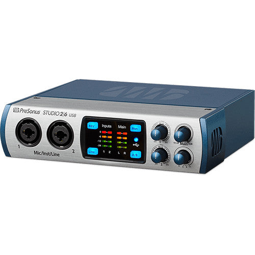 PreSonus Studio 26 - 2x4 192 kHz, USB 2.0 Audio/MIDI Interface