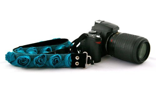 "Capturing Couture Organza Collection"" Turquoise 1.5"" SLR/DSLR Couture Camera Strap"