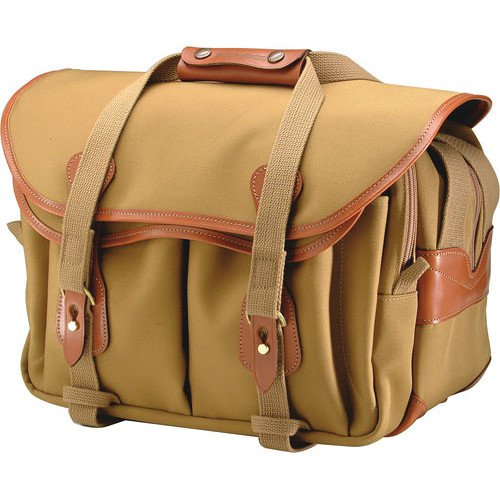 Billingham 335 Shoulder Bag (Canvas, Khaki with Tan Leather Trim)