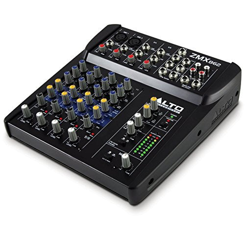 Alto Professional ZMX862 Zephyr Series 6-Channel Compact Sound Reinforcement Mixer