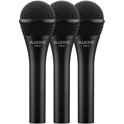 Audix OM2TRIO Handheld Hypercardioid Dynamic Microphone (3-Pack)