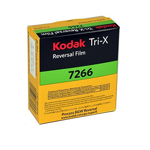 Kodak TXR-464 Tri-X Reversal, Silent Super 8 Movie Film, 50 Foot Cartridge