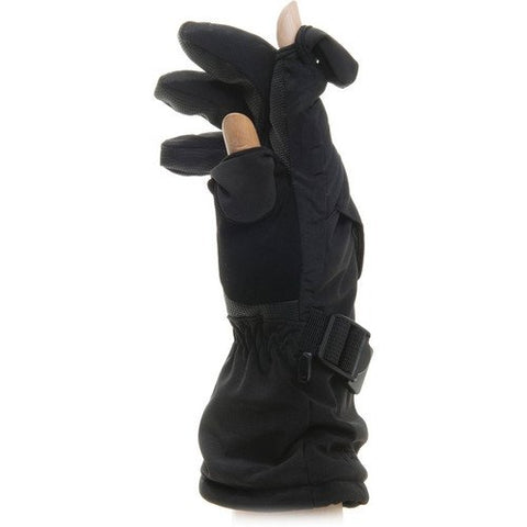 Freehands Men's Soft Shell Ski/Snowboard Gloves X-Large Black