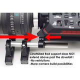 CineMilled Ronin/MoVI Rod Support for Gimbal Dovetails