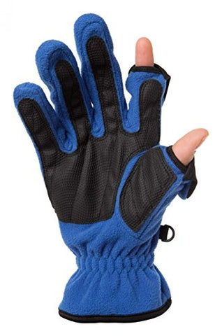 Freehands Ladies Unlined Fleece Gloves Small Blue
