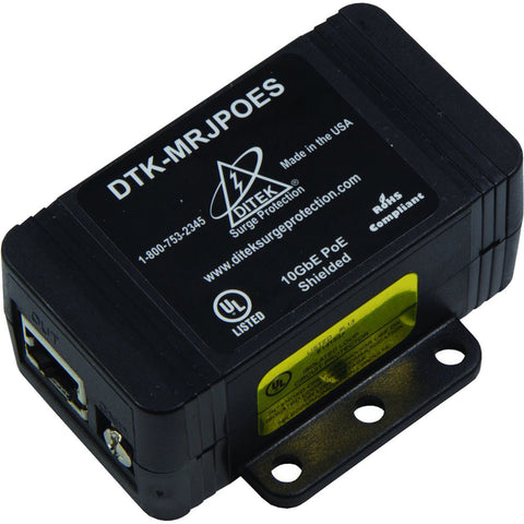 DITEK DTK-MRJPOES Shielded PoE Surge Protector