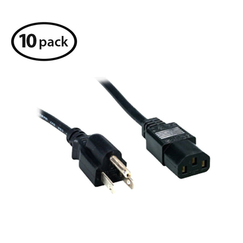 Comprehensive Standard PC Power Cord 3' (10-pieces)