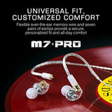 MEE audio M7 PRO Universal-Fit Hybrid Dual-Driver Musician's In-Ear Monitors with Detachable Cables Clear (EP-M7PRO-CL-MEE)