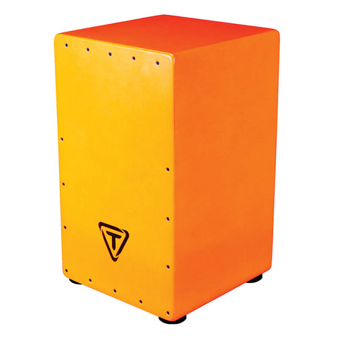 Tycoon Percussion Bold Series Cajon Pack - Orange
