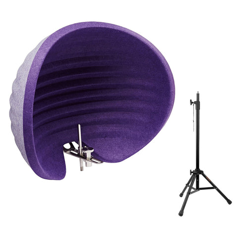 Aston Microphones Halo Reflection Filter (Purple) with Reflection Filter Tripod Mic Stand Bundle